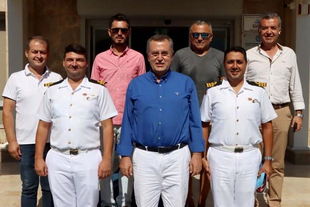Fethiye Sahil Güvenlik Komutanı, Başkan Çıralı'yı Ziyaret Etti_640x427